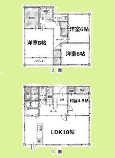 とっても静かな住宅地♪お車スペース並列3台可能!お庭スペースもありますよ♪