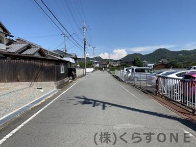 【前面道路含む現地写真】たつの市神岡町横内/売土地