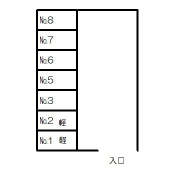 【区画図】織田パーキング