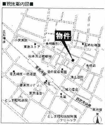 アドバンス東長崎の地図☆