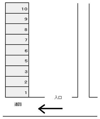 【区画図】南町駐車場