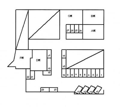 【区画図】荒井駐車場