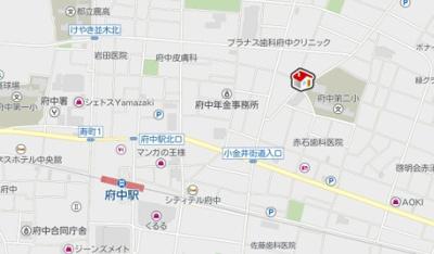 【地図】レオパレスカーサアベニューIV(40595-102)