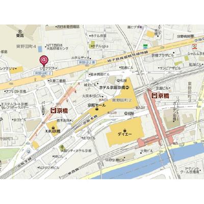 【地図】T's SQUARE大阪城