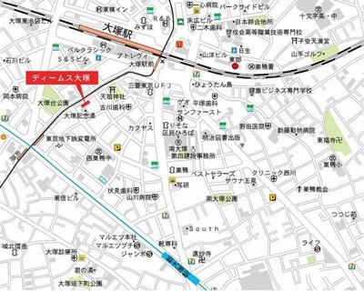 ディームス大塚の地図☆