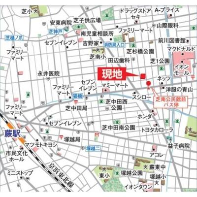 【地図】ルミエール3番館