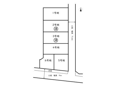 【区画図】たつの市龍野町片山/全6区画