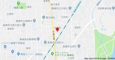 【地図】ウエストハイツP2 (株)Roots