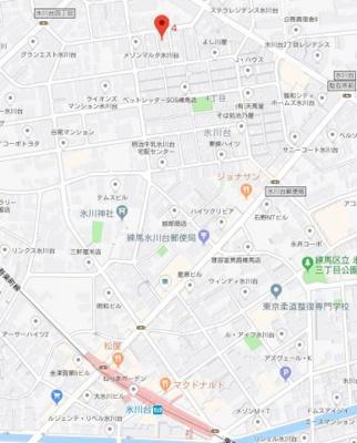【地図】アーベインテラス氷川台