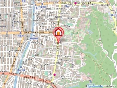 【地図】CASA祇園