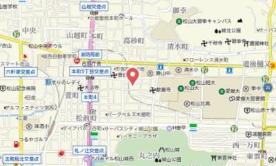 【地図】サンピア清水町Ⅱ・