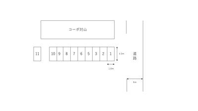 【区画図】対山駐車場