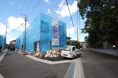 【前面道路含む現地写真】海老名市社家 1号棟 新築戸建 全9棟 【仲介手数料無料】