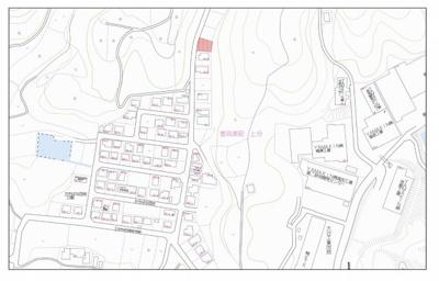 【地図】香我美町上分