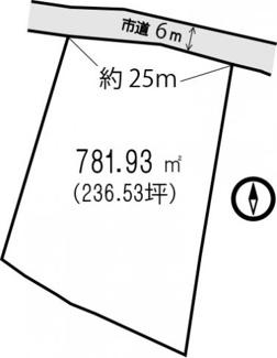 【土地図】南房総市千倉町北朝夷 住宅用地