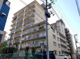 総戸数67戸、鉄筋鉄骨コンクリート造9階建のマンションです。