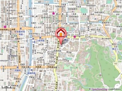 【地図】リバーパレス白川