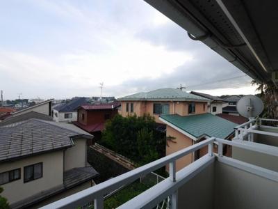 バルコニーからの眺望・南東向きです。