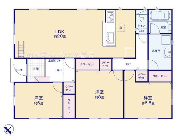 LDK20帖!全居室6帖以上の平屋建てです♪