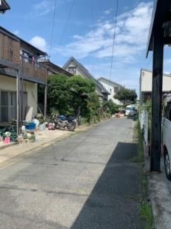 羽島郡岐南町伏屋6丁目 売地 解体更地渡し 前面道路幅員4.0mの私道になります。