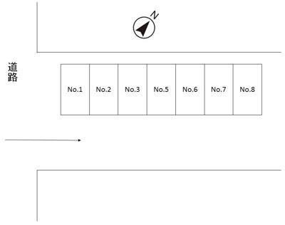 【区画図】小比企町駐車場