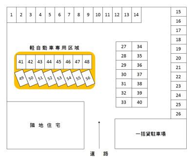 【区画図】大和田町5丁目駐車場