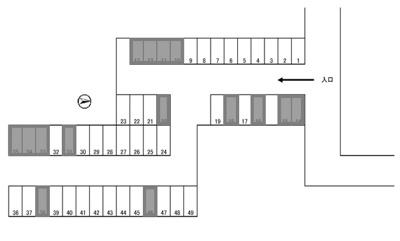 【区画図】中野山王1丁目駐車場