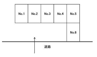 【区画図】柳沢駐車場