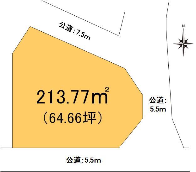 【土地図】茨城町小幡土地