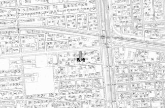 【地図】東三輪1丁目 売土地