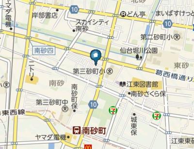 【地図】CRASTINE南砂町