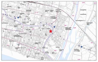 【地図】安芸市本町