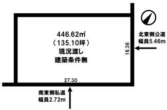 【土地図】端野町二区 売土地