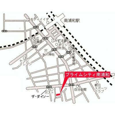 【地図】プライムシティ南浦和