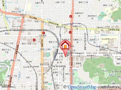 【地図】AXIS松前