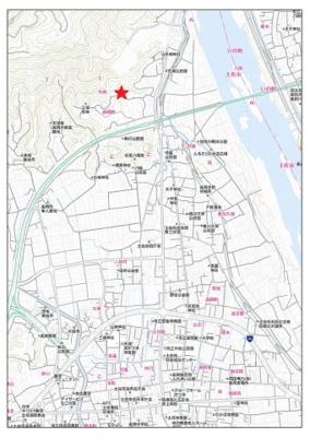 【地図】土佐市高岡町乙