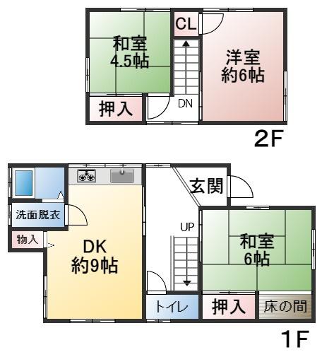 建物面積70.39㎡ 土地面積104.42㎡ 4LDK