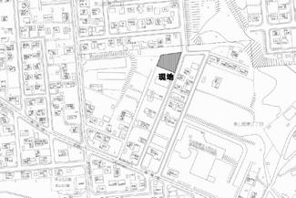 【地図】美山町東2丁目 売土地