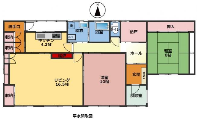 網走市字呼人174番地11 中古売家平屋建