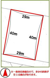 【区画図】沖縄市比屋根2丁目(350.25坪)