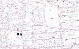 【地図】北進町5丁目 売土地