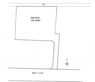 【土地図】前橋市朝倉町売地