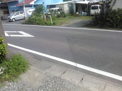 【前面道路含む現地写真】前橋市朝倉町売地