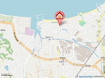 【地図】和気2丁目一戸建