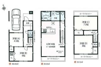 【区画図】LDK16帖以上の新築戸建て 蕨市北町4丁目Ⅱ期ーⅢ