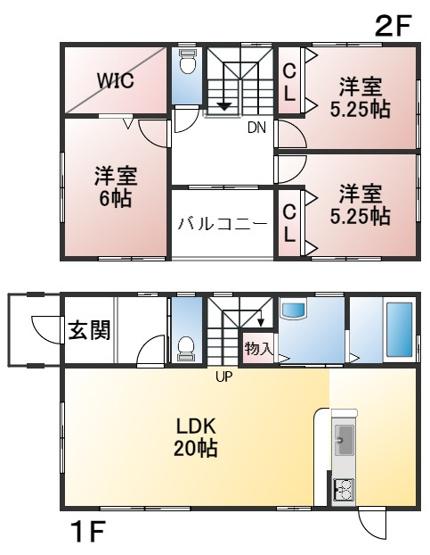 建物面積94.39㎡ 土地面積124.44㎡ 4LDK オール電化住宅