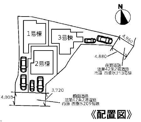 【区画図】 神戸市垂水区千鳥が丘1丁目 新築戸建 3区画
