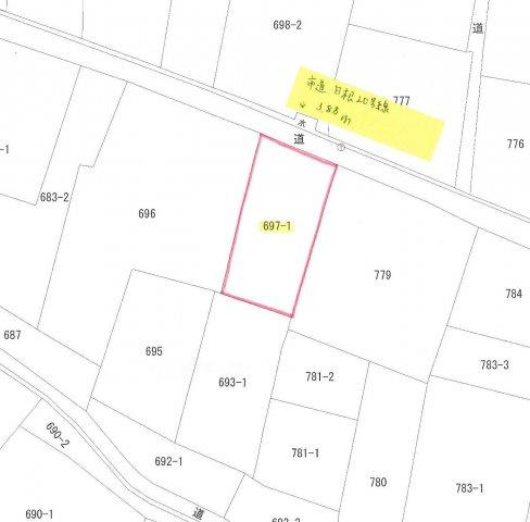 【土地図】南アルプス市有野114坪土地
