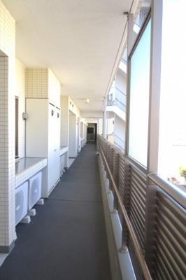 明るい廊下です。