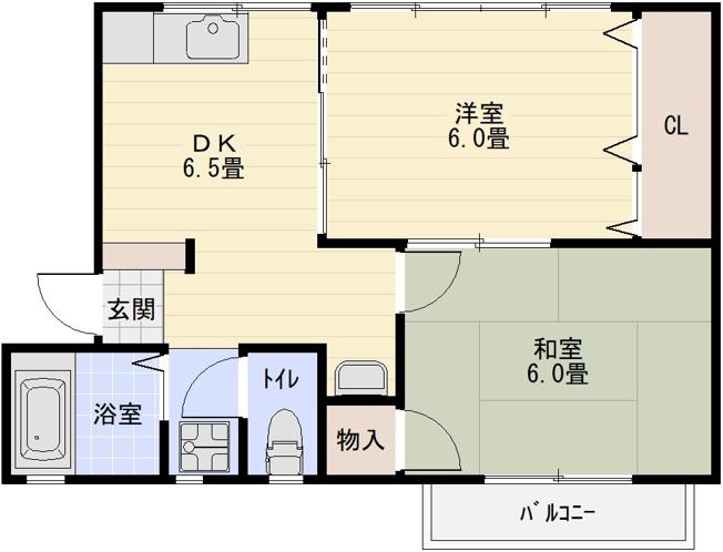 第1コーポ平野(法善寺駅 堅下駅) 2DK(1LDK)